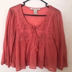 American rag cie tank top old rose, size L